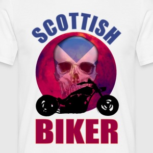 Scottish Biker Skull Chop T-Shirts - Men's T-Shirt