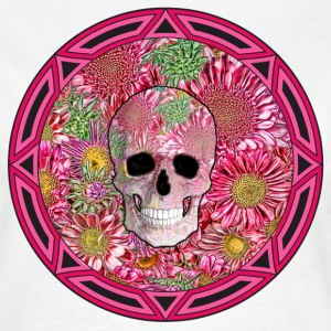 Tribal Flower Skull (Small) - Women's T-Shirt