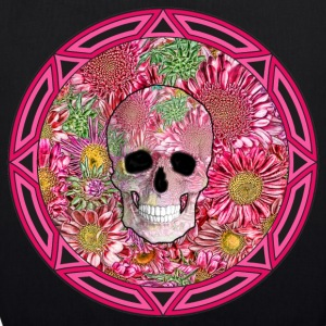 Tribal Flower Skull (Small) - EarthPositive Tote Bag