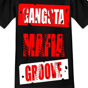 gangsta mafia groove Shirts - Teenage T-shirt