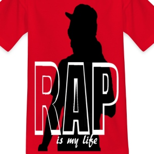 rap is my life Shirts - Teenage T-shirt