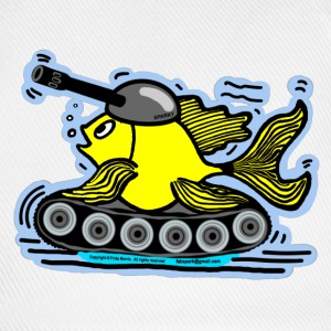Fish Tank with a cannon,  sparky fabspark - Baseball Cap