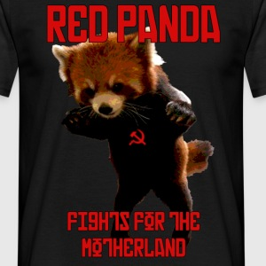 Red Panda Fights For The Motherland T-Shirts - Men's T-Shirt