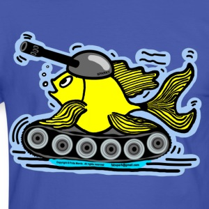 Fish Tank with a cannon,  sparky fabspark - Men's Ringer Shirt