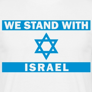 WE STAND WITH ISRAEL T-Shirts - Männer T-Shirt