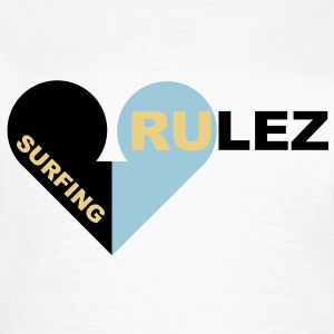 surfing rulez - T-skjorte for kvinner