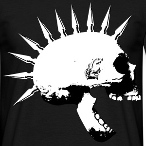 punkskull_sw_right T-Shirts - Männer T-Shirt
