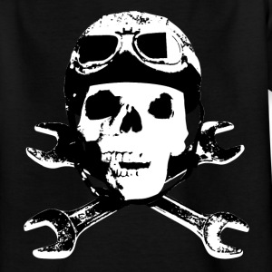 biker_skull_b_sw Kinder T-Shirts - Teenager T-Shirt