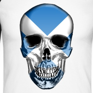 Scotland Skull - Men's Long Sleeve Baseball T-Shirt