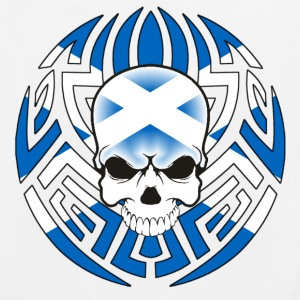 Tribal Scottish Skull - EarthPositive Tote Bag