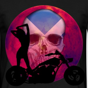 Sexy Scottish Biker Skull - Men's T-Shirt