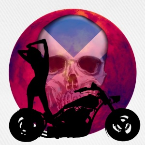 Sexy Scottish Biker Skull - Baseball Cap