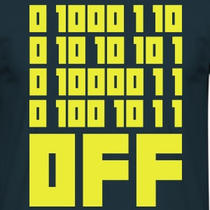 Fuck OFF - Binary Code Tee shirts - T-shirt Homme