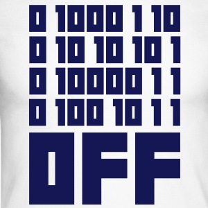 Fuck OFF - Binary Code Tee shirts manches longues - T-shirt baseball manches longues Homme