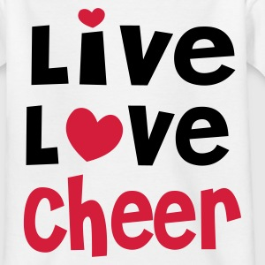 Live Love Cheer - Teenager T-Shirt