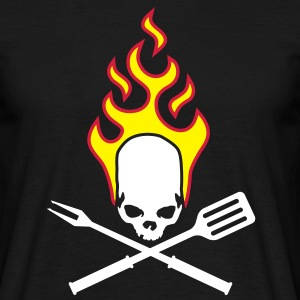 fire_skull_cook_112011_a_3c T-Shirts - Men's T-Shirt