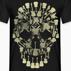 Musical Intruments Skull Men's T-Shirt