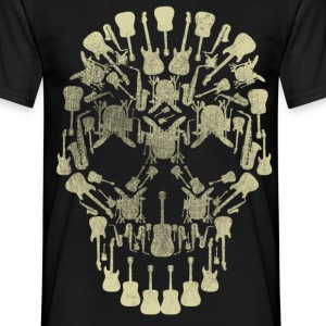 Musical Intruments Skull Men's T-Shirt - Men's T-Shirt