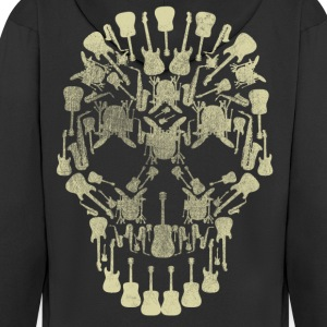 Musical Intruments Skull Men's Hooded Jacket - Men's Premium Hooded Jacket