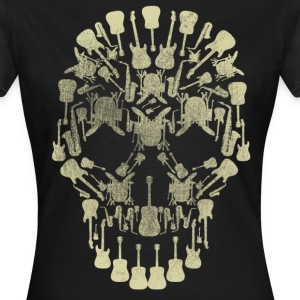 Musical Intruments Skull Ladies T-Shirt - Women's T-Shirt