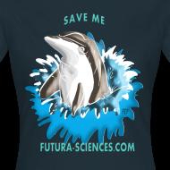 Motif ~ Save dauphin femme noir