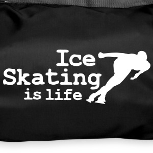 Ice skating is life with speed skater Bags  - Duffel Bag
