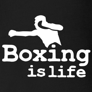 Boxing is life with boxer Body neonato - Body ecologico per neonato a manica corta