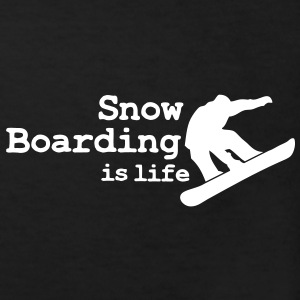 Snow boarding is life with snowboarding Barn-T-shirts - Ekologisk T-shirt barn