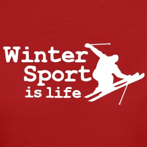Wintersport is life with skier T-Shirts - Women's Organic T-shirt