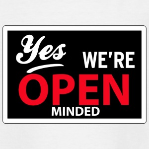 yes we are open minded Barn-T-shirts - T-shirt tonåring