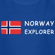 Teenager T-Shirt NORWAY EXPLORER white-lettered
