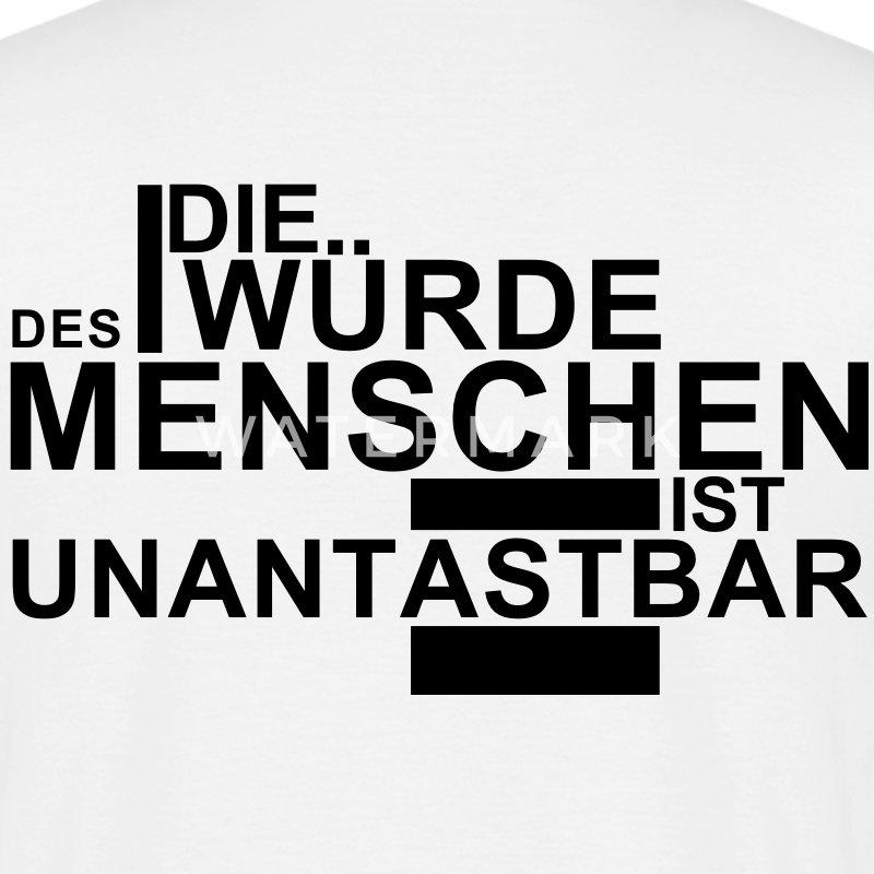 Die Lymphorgane Des Menschen: DIE WÜRDE DES MENSCHEN IST UNANTASTBAR T-Shirt