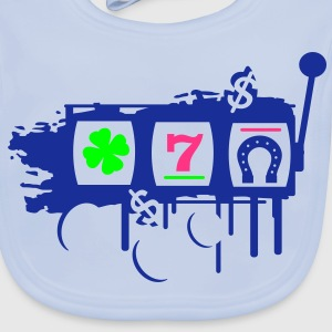 fruit machine clover, Seven and horseshoe Accessories - Baby Organic Bib