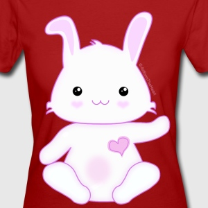 Cute Little Kawaii Bunny Rabbit Ladies T-Shirt - Women's Organic T-shirt