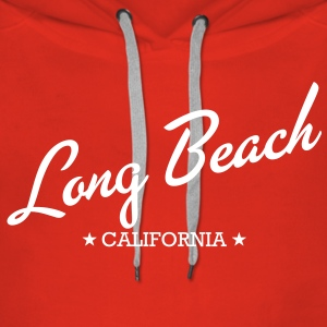 Long Beach - Bluza damska Premium z kapturem