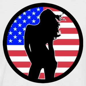 Sexy Girl USA 002 T-Shirts - Men's Baseball T-Shirt