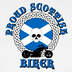 Proud Scottish Biker Caps & Hats - Baseball Cap