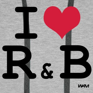 i love r and b Bluzy - Bluza męska Premium z kapturem