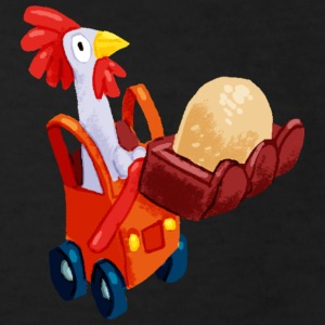 Black Chicken in an excavator Shirts - Kids' Organic T-shirt