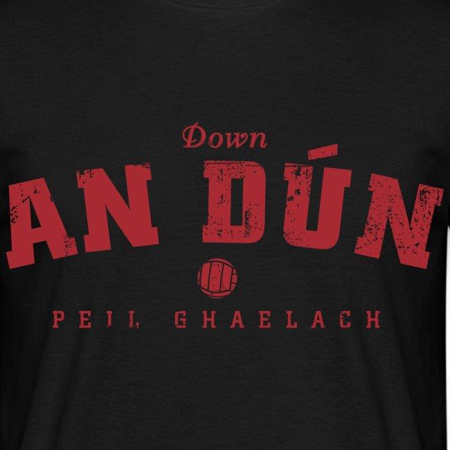 Vintage Down Football T-Shirt