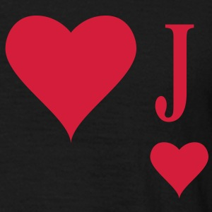 Heart Joker | joker of hearts | J T-Shirts - T-skjorte for menn