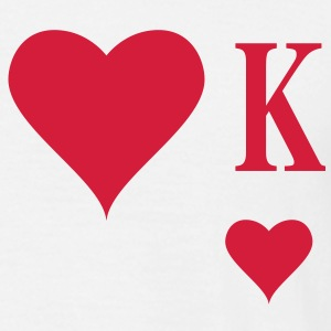 Heart King | Herz König | king of hearts | K T-Shirts - T-skjorte for menn