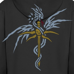 Dragon Sword by PurpleBlackDesign Coats & Jackets - Men's Premium Hooded Jacket