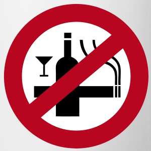 NO Smoking Alcohol Sign - Mug