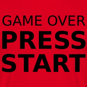 Game Over Press Start T-Shirts - Men's T-Shirt