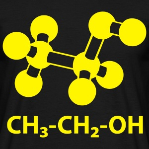 alcohol molecule with formula CH3CH2OH T-Shirts - Men's T-Shirt