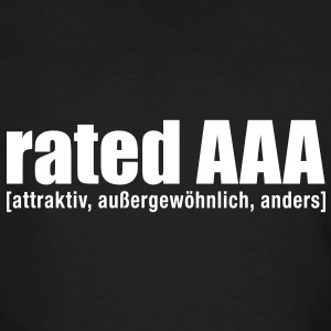 rated AAA M - Männer Bio-T-Shirt