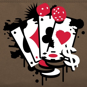 Card game hearts, spades, diamonds, clubs with dice and tokens Bags  - Retro Bag