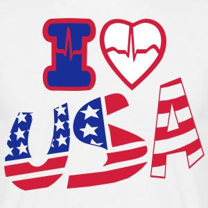 I LOVE USA - Men's T-Shirt