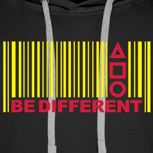 Be Different - Barcode - Symbols - Bar code Hoodies & Sweatshirts - Men's Premium Hoodie